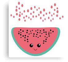 watermelon kawaii Canvas Print
