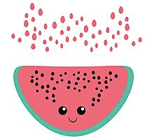 watermelon kawaii Photographic Print