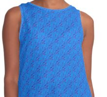 Repeated Blue Blur Contrast Tank