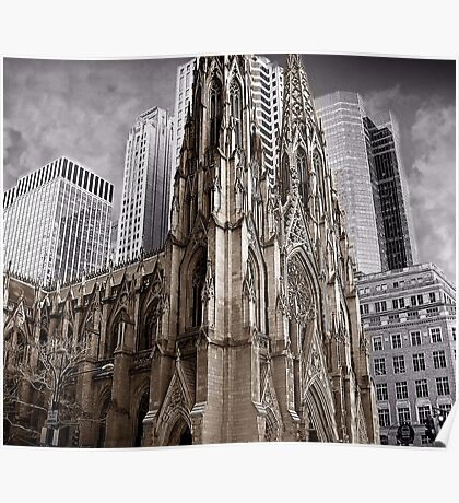 St Patrick's Cathedral of New York Poster