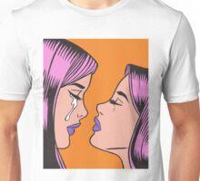 Pink Hair Crying Comic Girl Twins Unisex T-Shirt