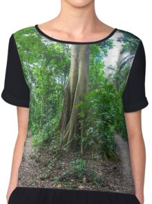 Tropical Rainforest Landscape and trail Chiffon Top