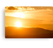Sunset on the Andean mountains in Cusco, Peru Canvas Print