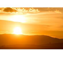 Sunset on the Andean mountains in Cusco, Peru Photographic Print