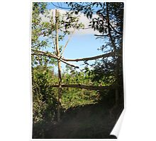 Wood and Tree Fence Poster