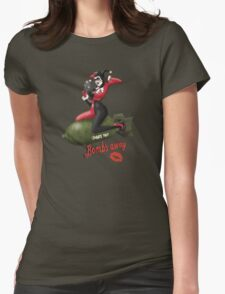 Harley War Pinup Womens Fitted T-Shirt