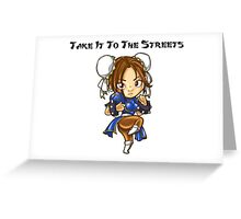 Street Fighter Chun-Li Take It To The Streets  Greeting Card