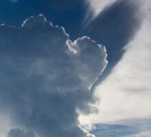 Abstract cloudscape in the sky of Rurrenabaque, Bolivia Sticker