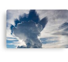 Abstract cloudscape in the sky of Rurrenabaque, Bolivia Canvas Print