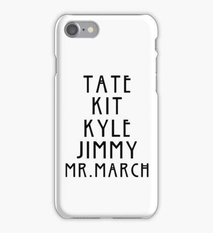 Evan Peters AHS Roles - Black iPhone Case/Skin
