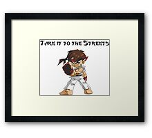Street Fighter Ryu Take It To The Streets Framed Print