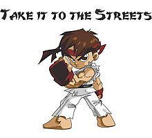 Street Fighter Ryu Take It To The Streets Photographic Print