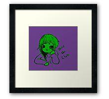 baby hulk club Framed Print