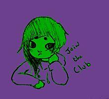 baby hulk club Photographic Print