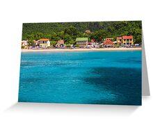 Sandy Beach on Sea Coast Greeting Card