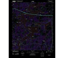 USGS TOPO Map Alabama AL Riverside 20110928 TM Inverted Photographic Print