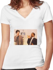 Jean-Ralphio and Tom Women's Fitted V-Neck T-Shirt