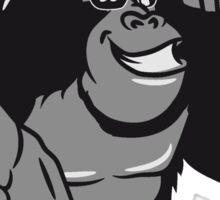 Gorilla sunglasses show bird Sticker
