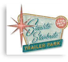 Starlite Starbrite Trailer Park Canvas Print