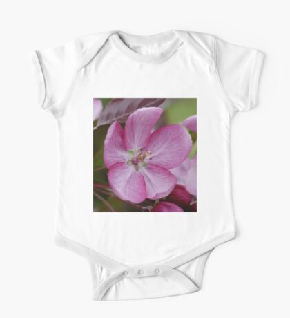 pink apple tree blossoms One Piece - Short Sleeve