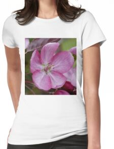 pink apple tree blossoms Womens Fitted T-Shirt