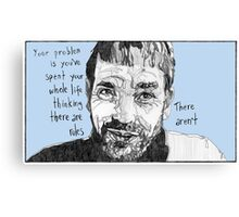 Thinking There Are Rules  Canvas Print