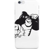 Gorilla sunglasses show bird iPhone Case/Skin