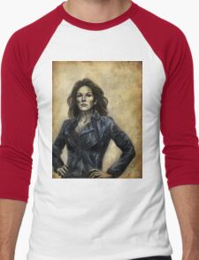Abby Griffin w/ color Men's Baseball ¾ T-Shirt