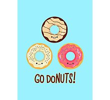 Go doNUTS! Photographic Print