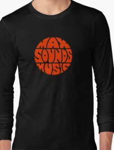 Max Sounds Music - Orange Long Sleeve T-Shirt