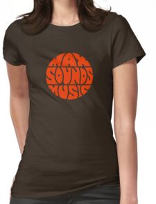 Max Sounds Music - Orange Womens Fitted T-Shirt