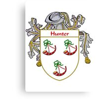 Hunter Coat of Arms/Family Crest Canvas Print