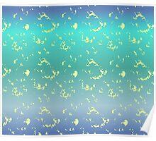 Fresh Aqua and Lemon Pattern Poster