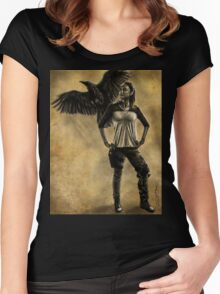 Raven Stay Strong 1 Women's Fitted Scoop T-Shirt