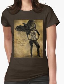 Raven Stay Strong 2 Womens Fitted T-Shirt