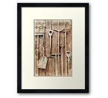 Working Tools Framed Print