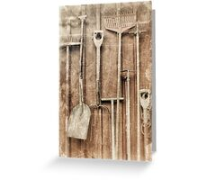 Working Tools Greeting Card