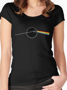 Dark Side Of Thats No Moon Women's Fitted Scoop T-Shirt