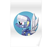 Rainbow Dash Wonderbolt combat gear Bust Poster