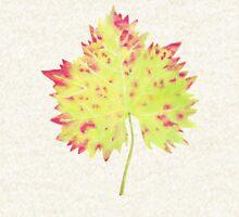 Watercolor Leaf Zipped Hoodie