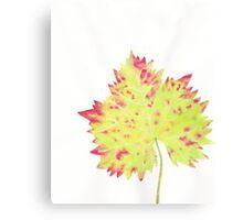 Watercolor Leaf Canvas Print