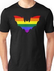 Rainbow Pride Bat Unisex T-Shirt