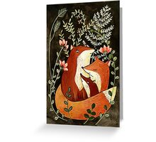 fox love Greeting Card