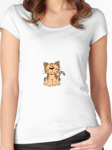 Sitting Kitty Cat Women's Fitted Scoop T-Shirt