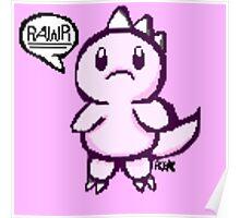 Pixel Rawr (pink) Poster