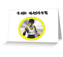 Bruce Lee The Master  Greeting Card