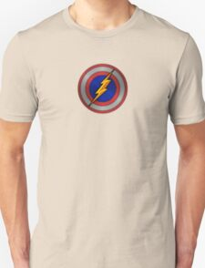 The Flash Ft. Captain America Shield Crossover Unisex T-Shirt