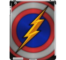 The Flash Ft. Captain America Shield Crossover iPad Case/Skin