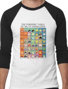 The Periodic Table of 80s TV animation Men's Baseball ¾ T-Shirt