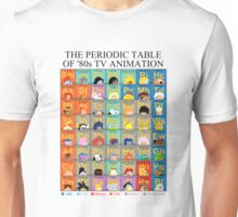 The Periodic Table of 80s TV animation Unisex T-Shirt
